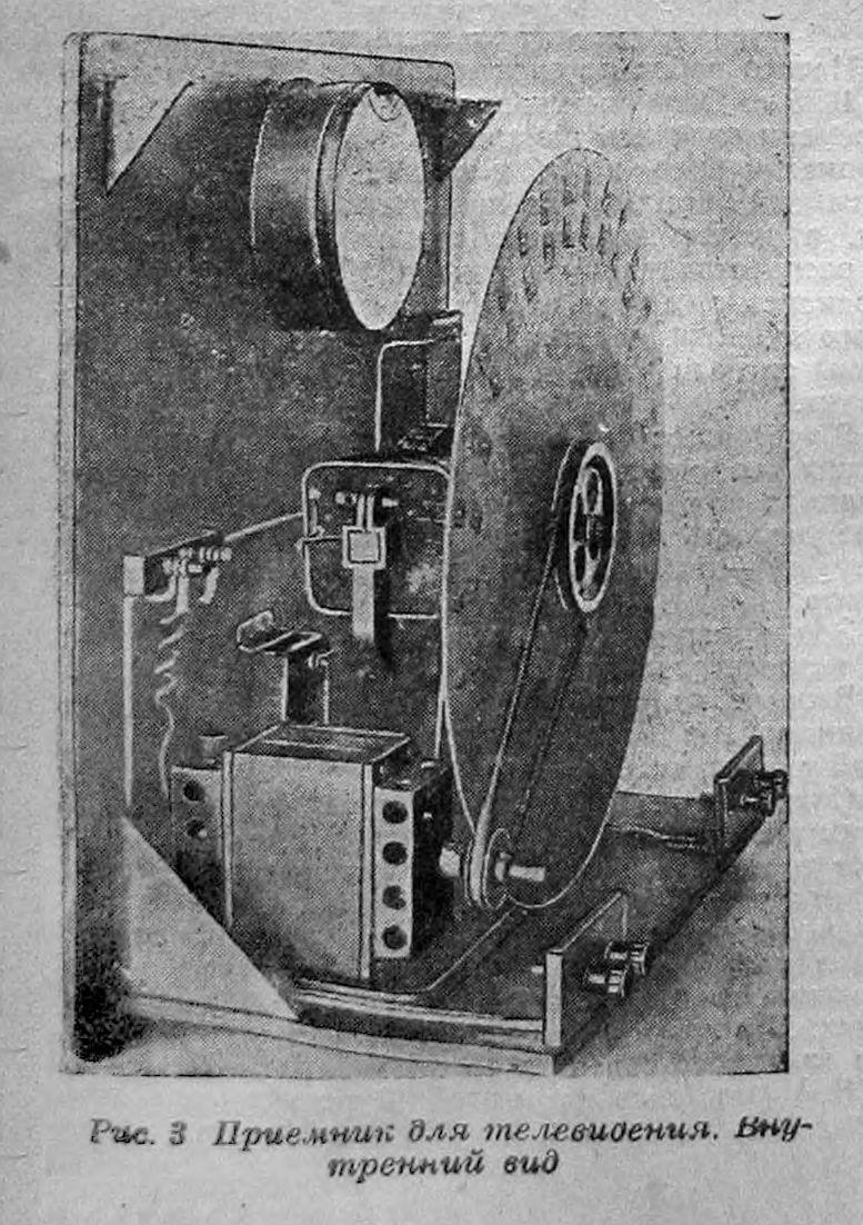Телевизор ВЭИ. Внутренний вид. 1931