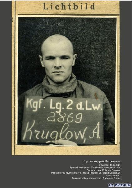 Андрей Круглов в фашистском плену