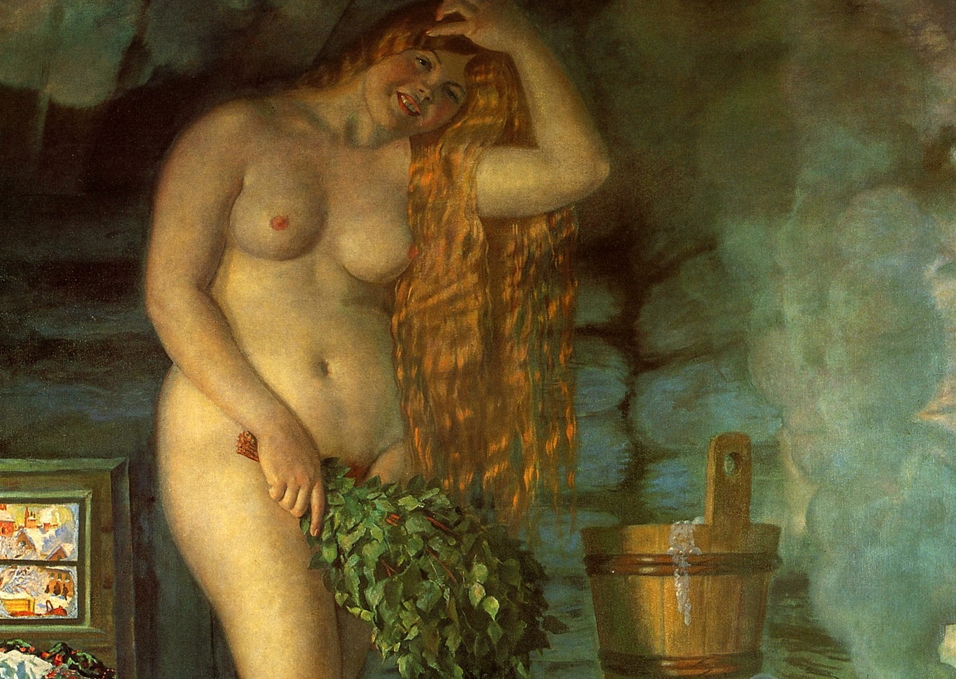 Борис Кустодиев. Русская Венера (фрагмент). 1926