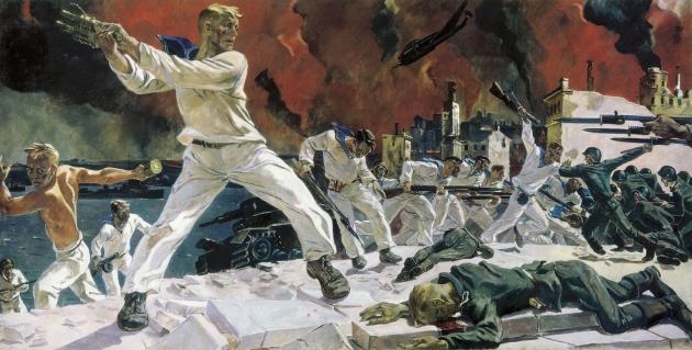 Александр Дейнека. Оборона Севастополя. 1942