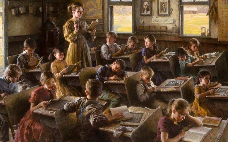Морган Вестлинг. Сельская школа. 1879