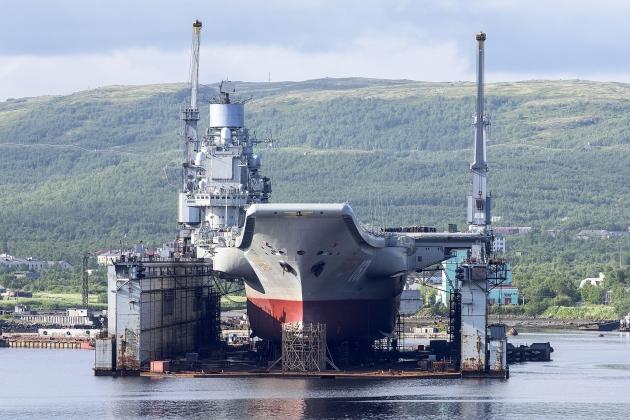 Тяжелый авианесущий крейсер «Адмирал Кузнецов». 2012 год