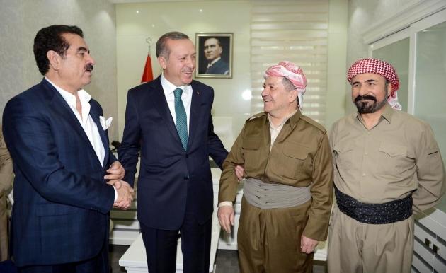 В центре Реджеп Эрдоган и Масуд Барзани