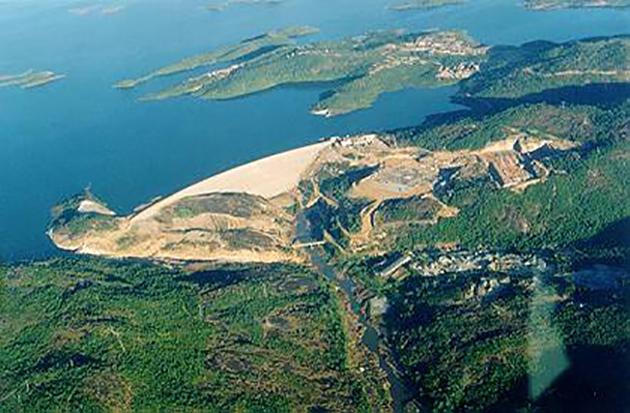 Вид на ГЭС Серра-де-Меза, Бразилия