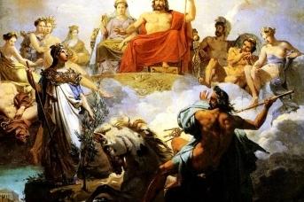 Мерри-Жозеф Блондель. Спор Посейдона и Афины. 1822