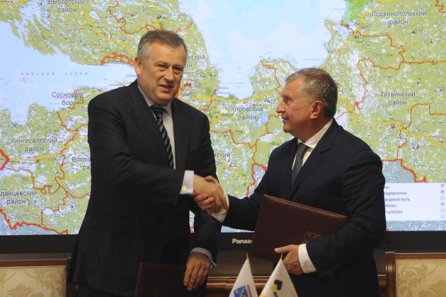 Роснефть вложится в развитие дорожной инфраструктуры Ленобласти
