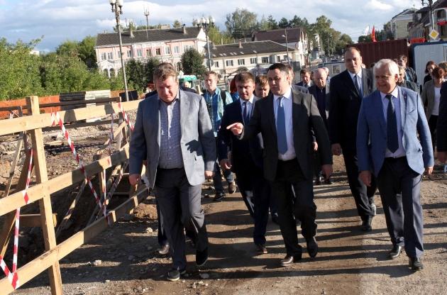 Тверская область: Отремонтированный мост в Ржеве обещают сдать в ноябре