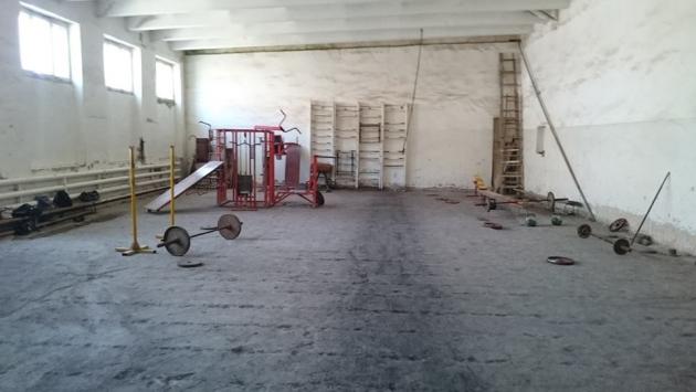 Спортивный зал в Гюмри, где тренируется Артур Алексанян