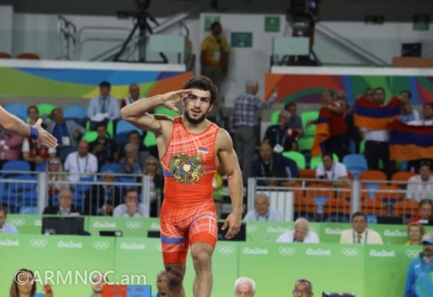 Серебряный призёр Рио-2016, борец греко-римского стиля Мигран Арутюнян