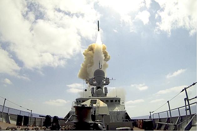 Корабли Черноморского флота нанесли удар по позициям боевиков в Сирии