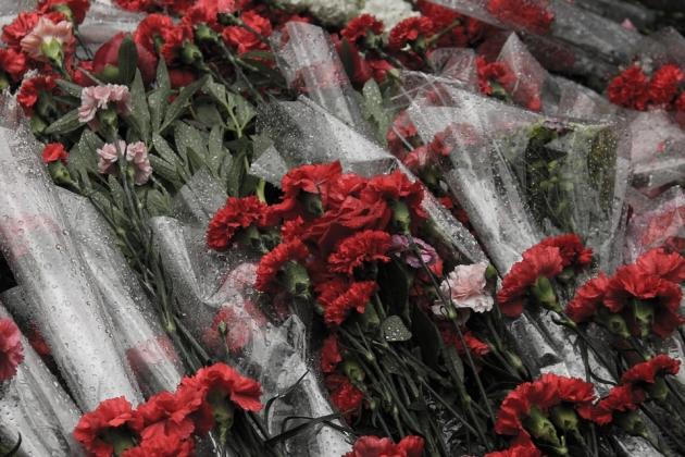 Медведев возложил цветы к Могиле Неизвестного Солдата Курской земли