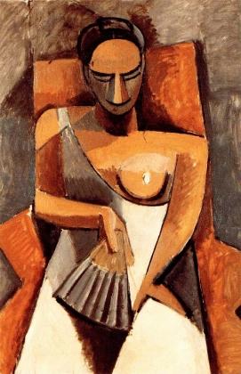Пабло Пикассо. Женщина с веером. 1908