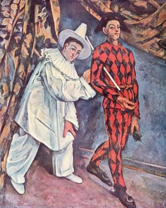 Поль Сезанн. Пьеро и Арлекин. 1888