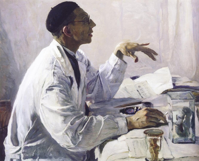 Михаил Нестеров. Портрет хирурга С.С.Юдина. 1935