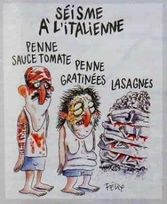Charlie Hebdo опубликовал карикатуру на землетрясение в Италии