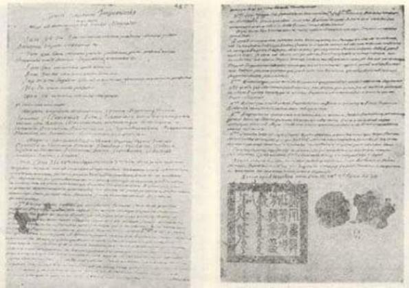 Экземпляр Нерчинского договора 1689 года на латинском языке