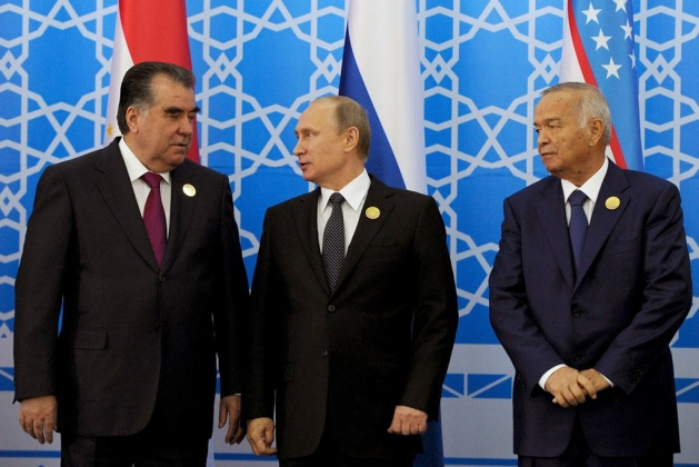 Эмомали Рахмон, Владимир Путин, Ислам Каримов