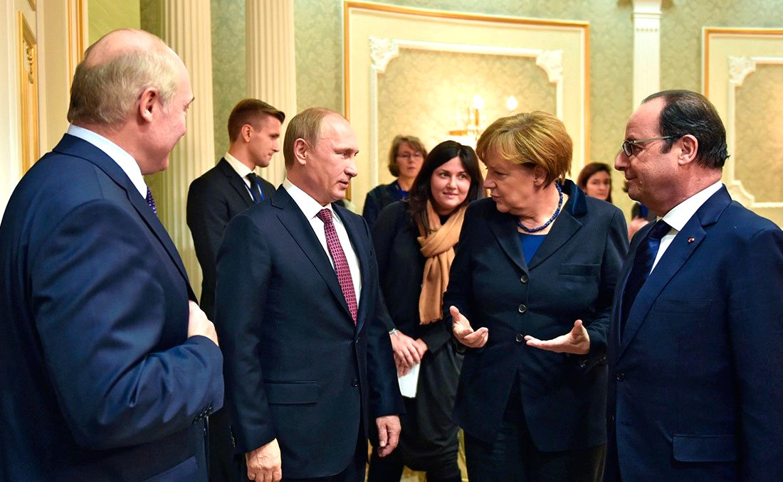 Переговоры в «нормандском формате» в Минске. 2015