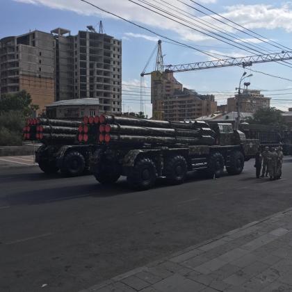 Репетиция военного парада в Ереване 16 сентября
