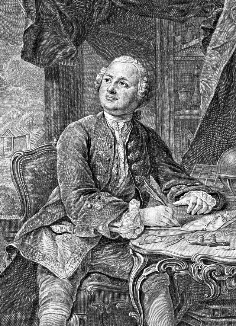 Михаил Васильевич Ломоносов. Э. Фессар и К. Вортман. 1757