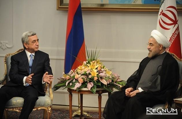 Президенты Армении и Ирана Серж Саргсян и Хасан Рухани