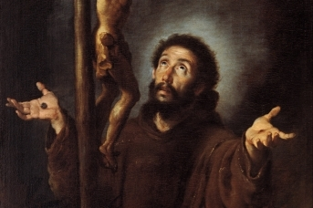 Бернардо Строцци. Св. Франциск Ассизский перед распятием. 1615