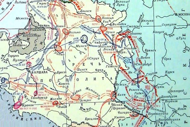 Карта схема Битва при Лесной