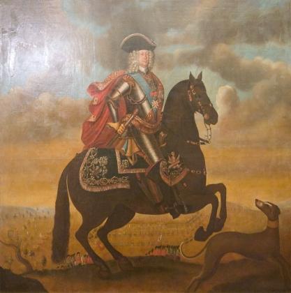 К. Шурмана. Конный портрет Б. П. Шереметева. 1710