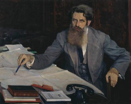 Михаил Нестеров. Портрет Отто Юльевича Шмидта. 1937