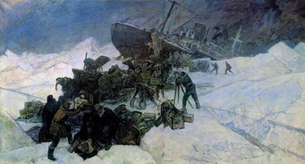Фёдор Решетников. Гибель «Челюскина». 1973