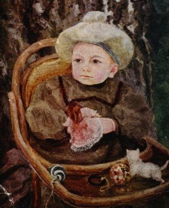 Сергей Малютин. Портрет В.С. Малютина, сына художника. 1895
