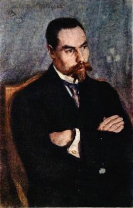 Сергей Малютин. Портрет В.Я. Брюсова. 1913
