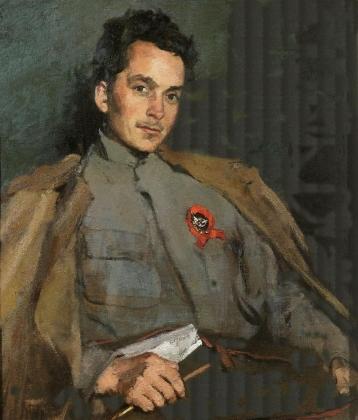 Сергей Малютин. Портрет писателя Д. А. Фурманова. 1922