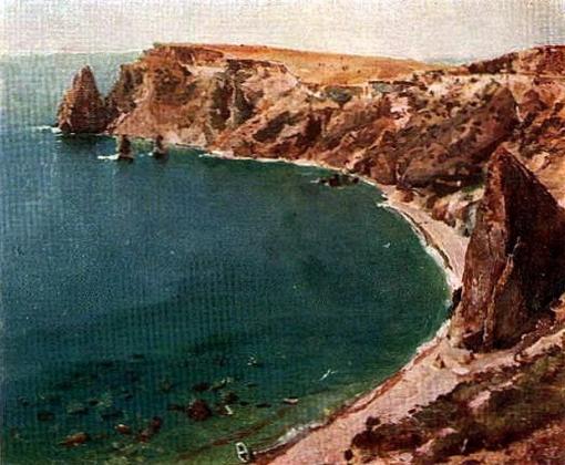 Сергей Малютин. Берег моря. Алушта. 1892