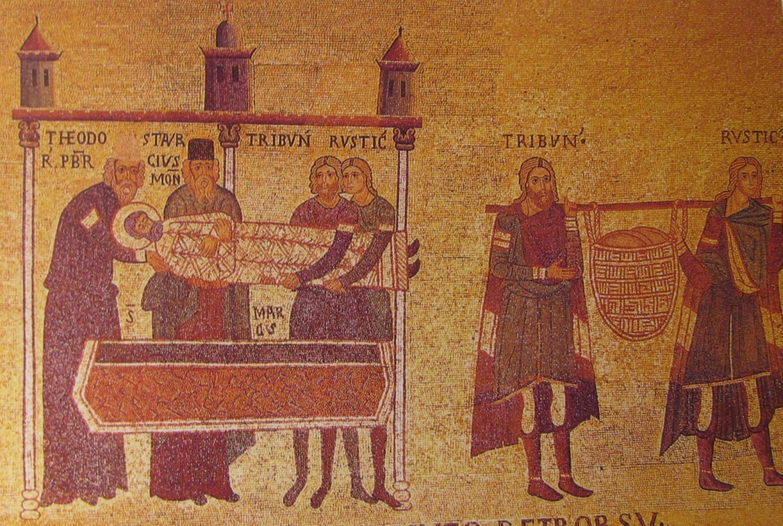Похищение мощей апостола Марка из Александрии (мозаика пресбитерия, XI век)