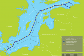 Варианты трассы газопровода «Северный поток — 2»