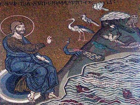 Сотворение птиц и рыб. Италия. Венеция. Собор святого Марка