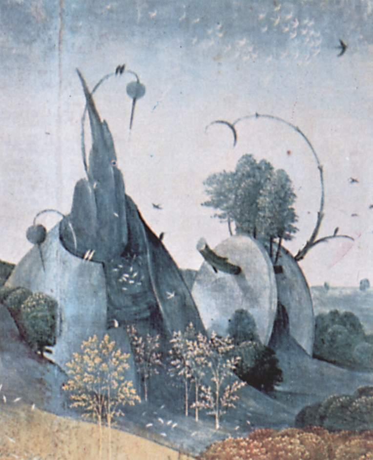 Иероним Босх. Триптих, левая строрка. Фрагмент. 1510