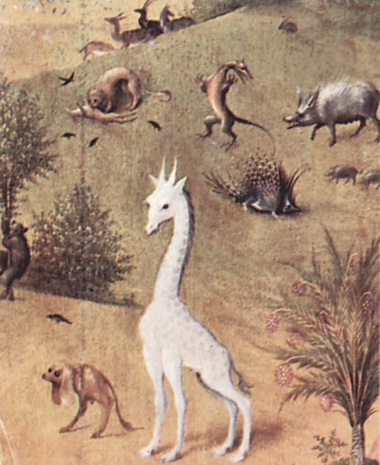 Иероним Босх. Фантастические райские животные. Триптих, левая строрка. Фрагмент. 15