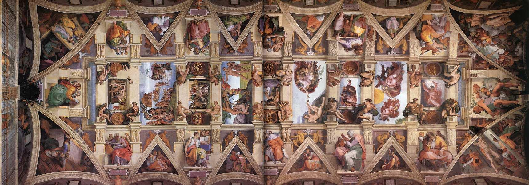 Микеланджело Буонарроти. Потолок Сикстинской капеллы. 1512