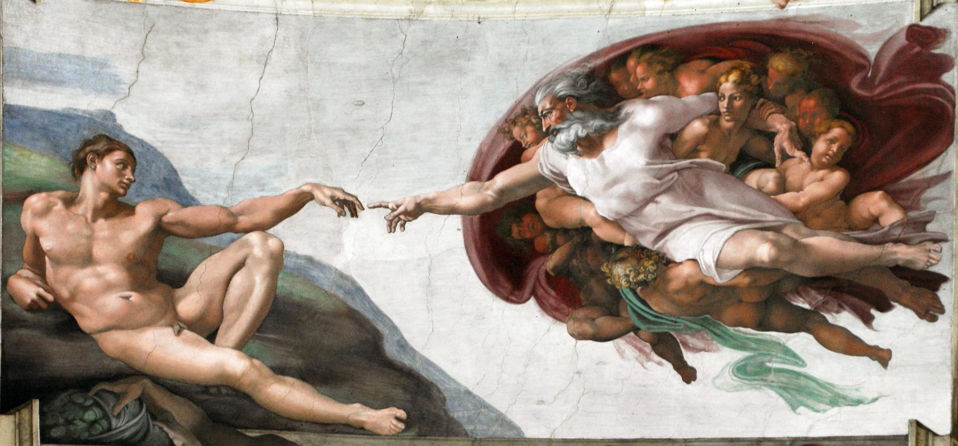 Микеланджело Буонарроти. Сотворение Адама. 1511