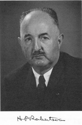 Говард Перси Робертсон (1903-1961), выдающийся американский математик и физик
