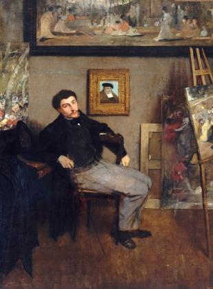 Портрет Джеймса Тиссо кисти Эдгара Дега. 1867 — 1868