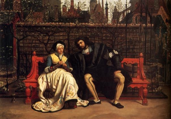 Джеймс Тиссо. Фауст и Маргарита в саду. 1861
