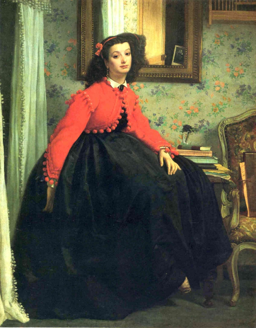 Джеймс Тиссо. Портрет мадемуазель L.L. 1864