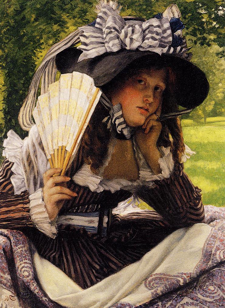 Джеймс Тиссо. Девушка на природе. 1870 — 1871