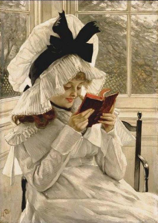 Джеймс Тиссо. Чтение книги. 1872 — 1873