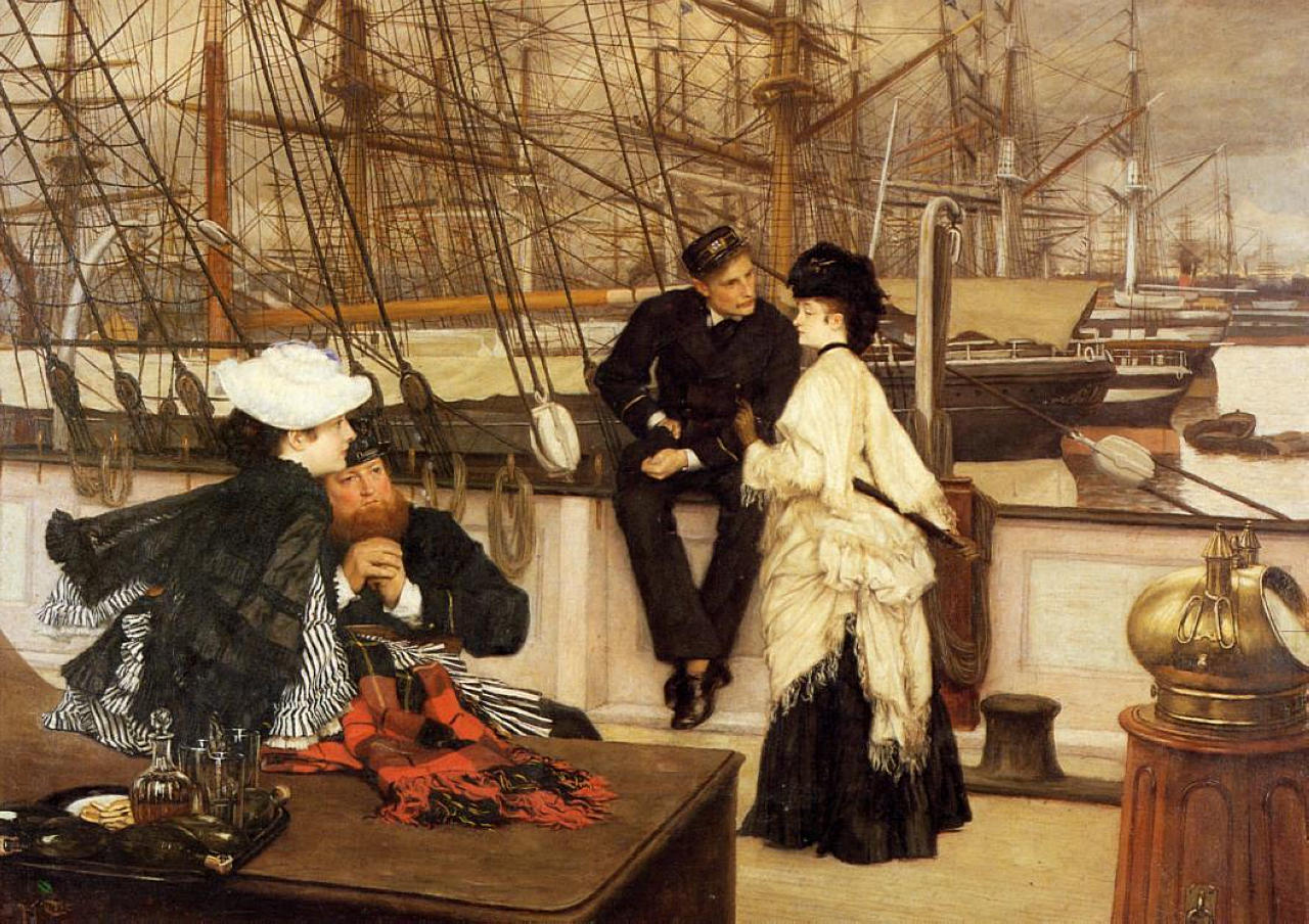 Джеймс Тиссо. Капитан и помощник. 1873