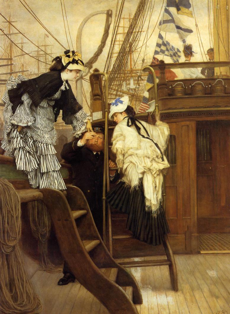 Джеймс Тиссо. Посадка на яхту. 1873
