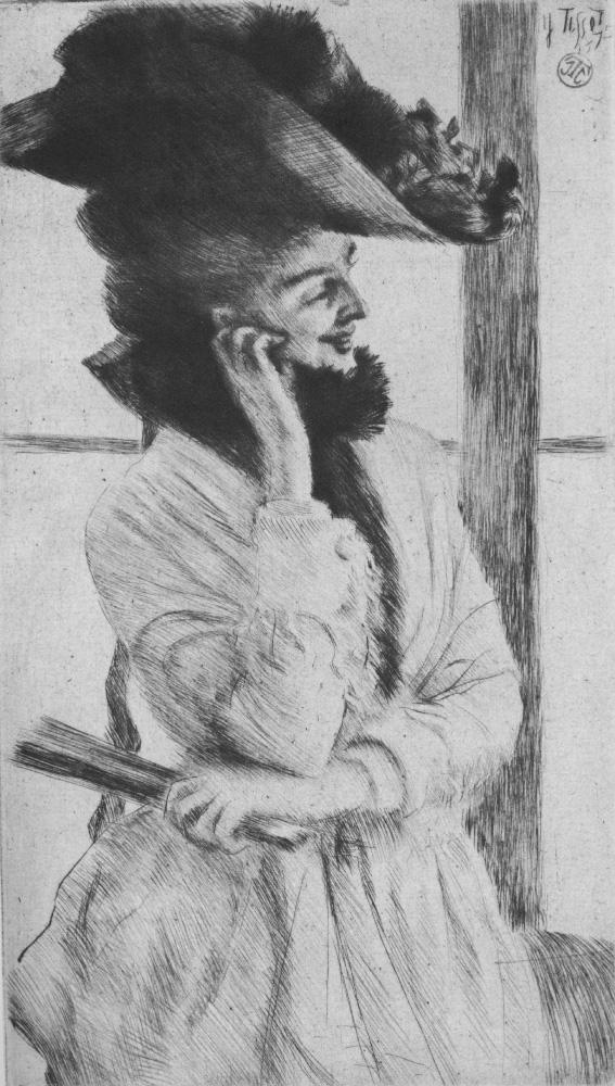 Джеймс Тиссо. У окна. 1875